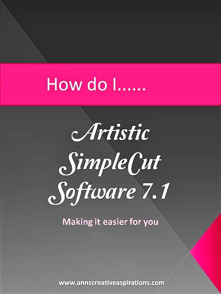 SimpleCut Software How to………